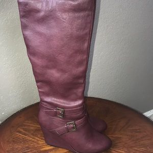 Charlotte Russe wedged boots. Size 9